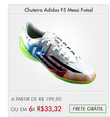 17698ad768 Chuteira Adidas F5 Messi Futsal - Mundo do Futebol · Chuteira Adidas F10 ...