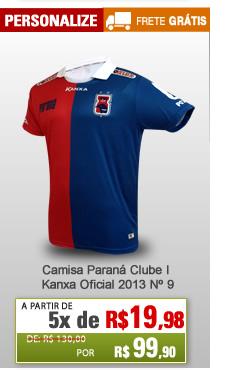 ... Camisa Paraná Clube I Kanxa Oficial 2013 Nº 9 - Mundo do Futebol d44ae6d2b5e13