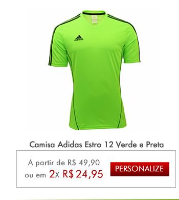 Camisa Adidas Estro 12 Verde e Preta - Mundo do Futebol ... b1ed6157933f7