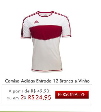 ... Camisa Adidas Entrada 12 Branca e Vinho - Mundo do Futebol 4a0b7ac5e94f5