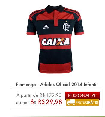Camisa Flamengo I Adidas Oficial 2014 Infantil - Mundo do Futebol ... 4851abc20f784